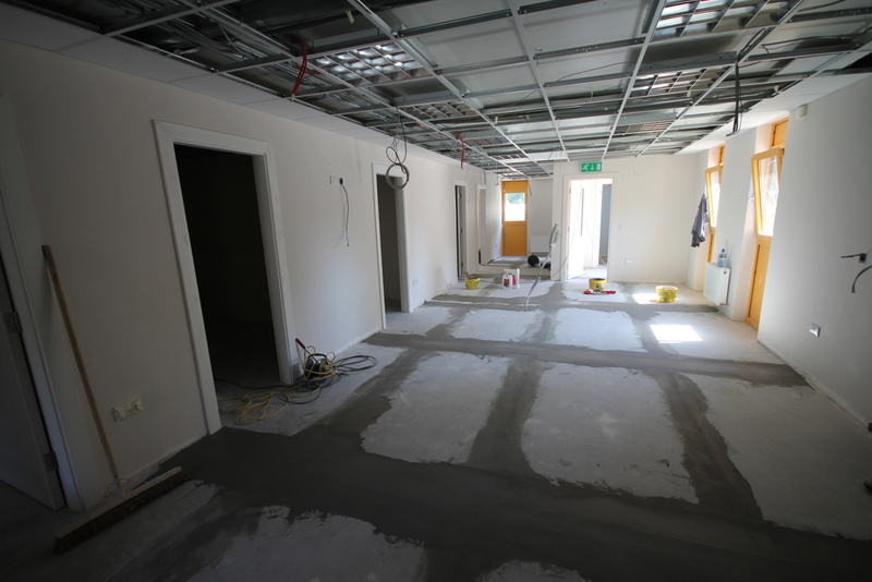 This is the new waiting room at Brayvet