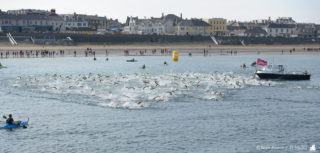 Hell of the West starts with a swim across Kilkee Bay in County Clare