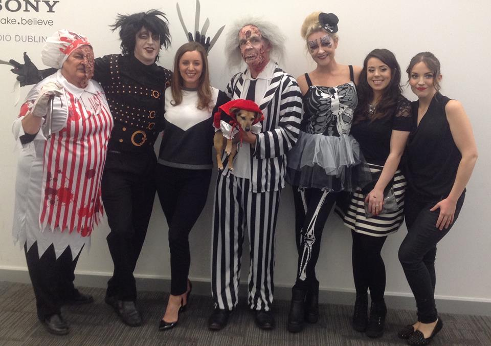 Here are the others, with Colin Baker as Edward Scissorhands and Laura Bermingham as a glamorous skeleton.