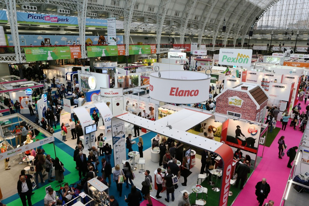 The commercial exhibition at London Vet Show