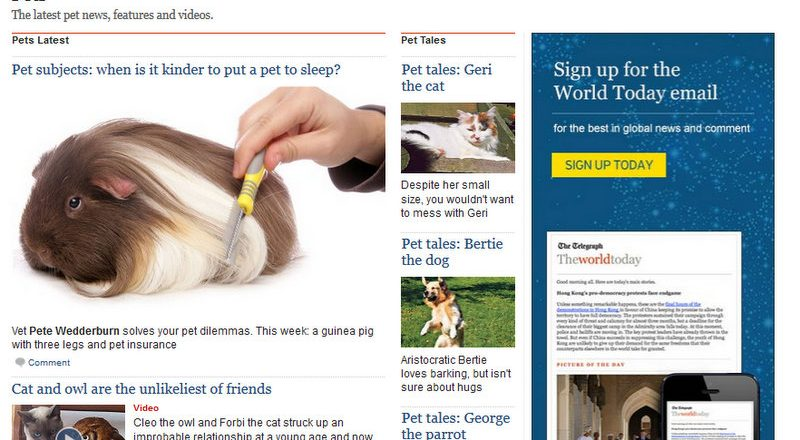 The Daily Telegraph has been a long term supporter of animal-related stories