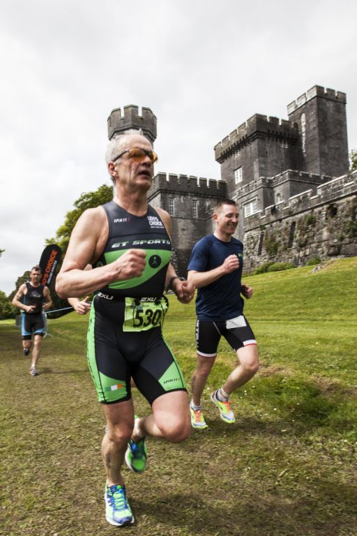 The run was made spectacular with the proximity of Lough Cutra Castle