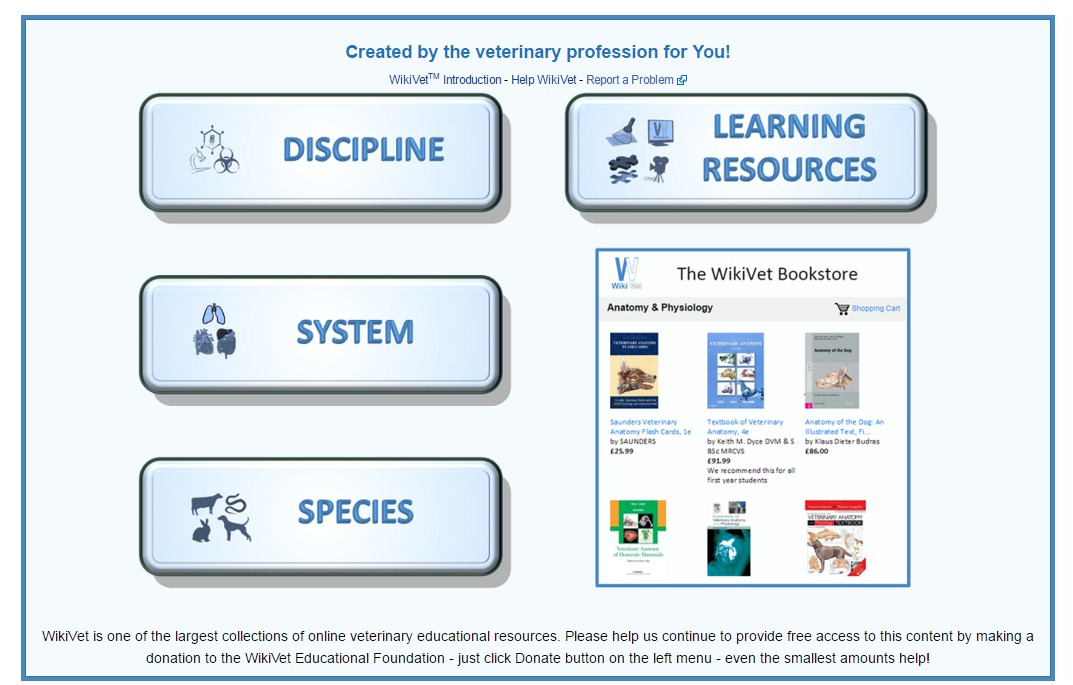 Wikivet is a high quality encyclopaedia of veterinary knowledge